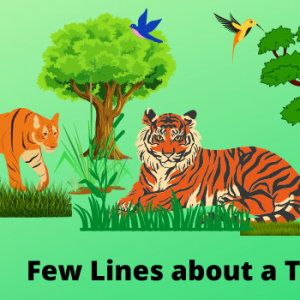 Few Lines about a Tiger in English